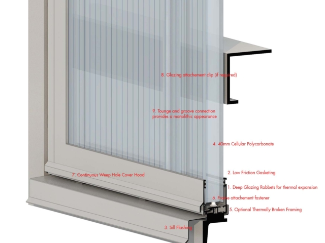 diagram of LIGHTWALL 3440 polycarbonate wall panels