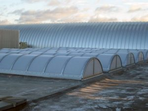 industrial skylights - EXTECH's SKYGARD 3300 at the GE Headquarters in Pittsfield, MA