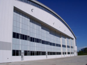cellular polycarbonate - EXTECH's LIGHTWALL 3000 at the General Electric Corporate Aviation Hangar in Newburgh, NY