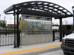 mortarless glass block - EXTECH's MATRIXWALL for SEPTA in Philadelphia, PA