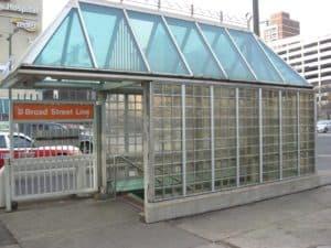 mortarless glass block - EXTECH's MATRIXWALL for SEPTA in Philadelphia, PA