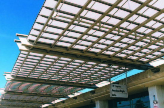 polycarbonate canopies - EXTECH's SKYSHADE 3700 at Gerald R. Ford Airport