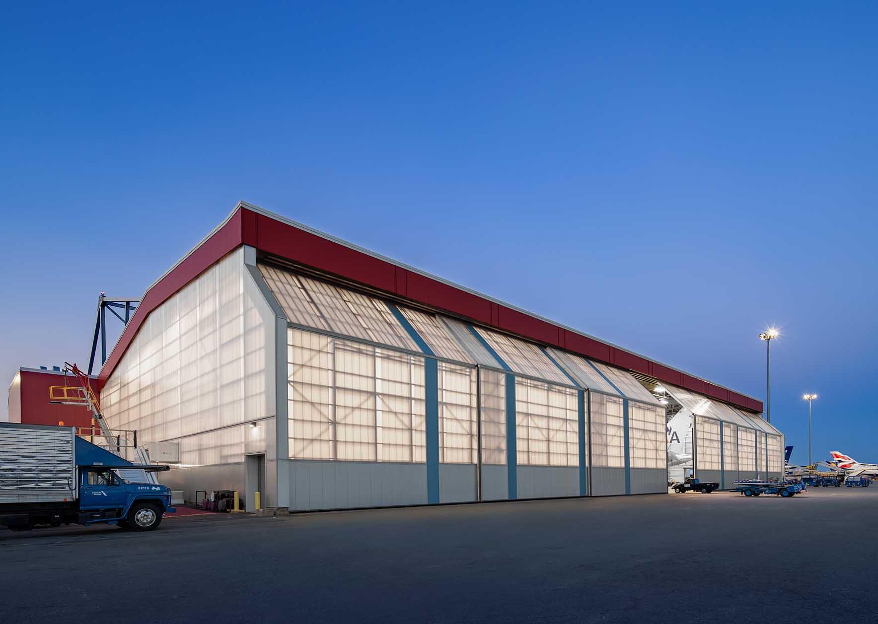 Polycarbonate Wall Panels - EXTECH's LIGHTWALL 3440 at Logan International Airport