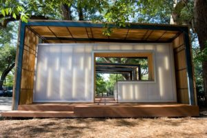 interior translucent wall panels - EXTECH's LIGHTWALL 3440 at City Park Botanical Garden Pavilion in New Orleans, LA