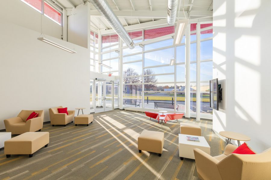Curtain Wall Interior | Otterbein University OH