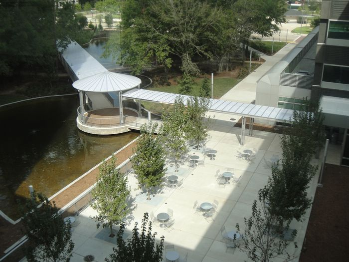 commercial canopy - EXTECH's SKYSHADE 3700 at BP Westlake in Houston, TX