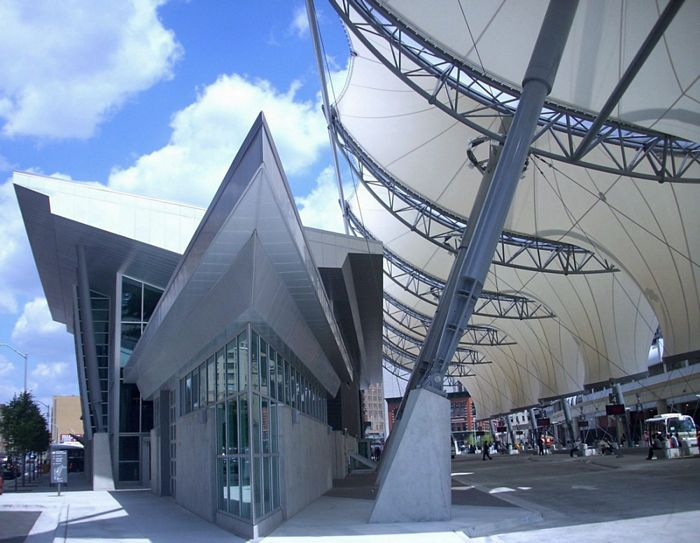 Commercial canopy rosa parks transit center detroit mi - Centre commercial rosa parks ...