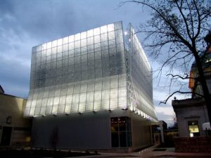 kinetic building facade - EXTECH's KINETICWALL at The Pittsburgh Children's Museum in Pittsburgh, PA