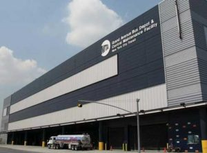 Custom Building Facade - EXTECH's Custom Steel and Aluminum Façade at Grand Avenue Bus Depot in New York, NY