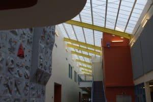 monumental industrial skylight - EXTECH's SKYGARD at Hanscom AFB Fitness Center in Hanscom AFB, MA