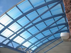 polycarbonate canopy - EXTECH's SKYSHADE 3100 at Copper Canyon School in Tooele, UT