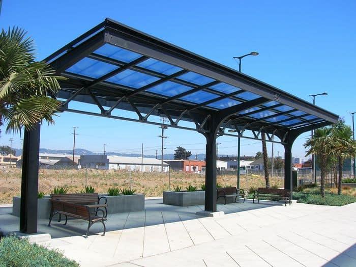 Commercial Canopy Wood Street Pocket Park Oakland Ca