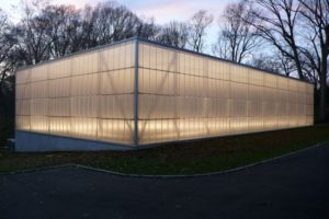 polycarbonate panels - EXTECH's LIGHTWALL at the Lurie Tennis Enclosure in Wynnewood, PA