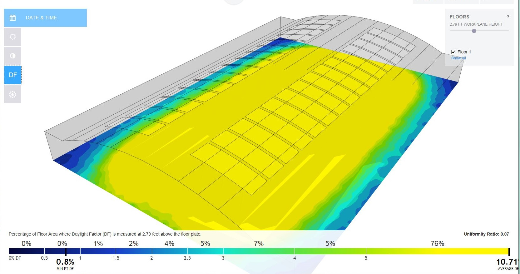 daylighting analysis for industrial application