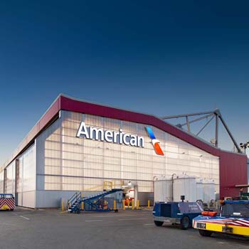 aviation hangar retrofit - EXTECH's hangar retrofit at Logan International Airport in Boston, MA