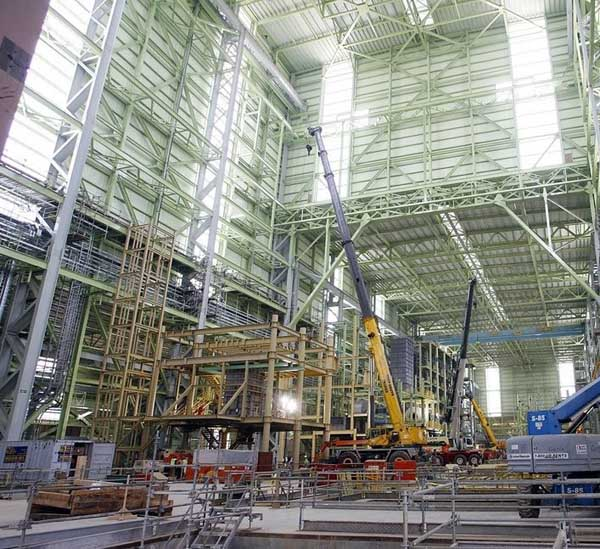 industrial daylighting - EXTECH's LIGHTWALL 3100LS for the Thyssen Krupp Steel Mill in Calvert, AL