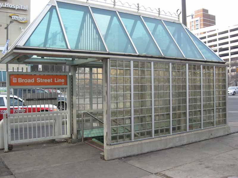 transit shelter glass block wall system