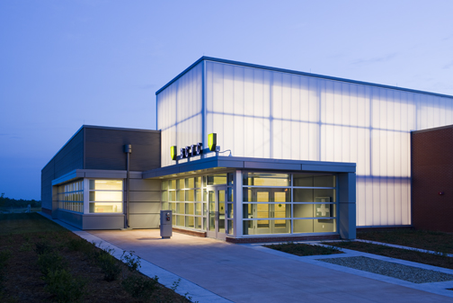 clear wall panels - EXTECH's LIGHTWALL for Fort Campbell Training Center in Fort Campbell, KY