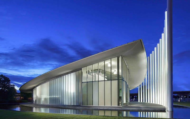 clear wall panels for recreation - EXTECH's LIGHTWALL for the Chesapeake Boathouse in Oklahoma City, OK