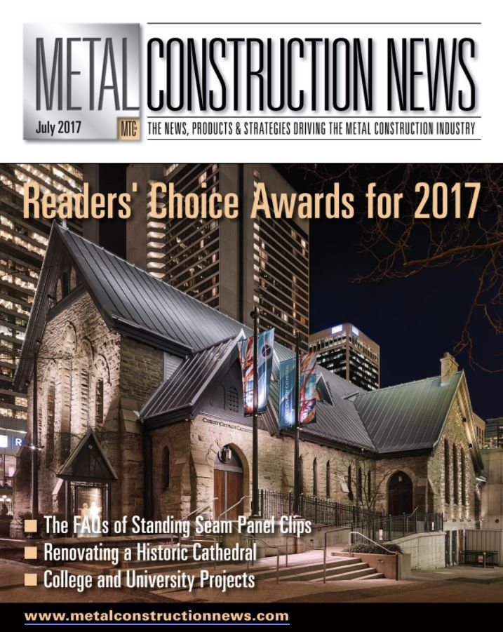 EXTECH's KINETICWALL received a Metal Construction News' Reader's Choice Award