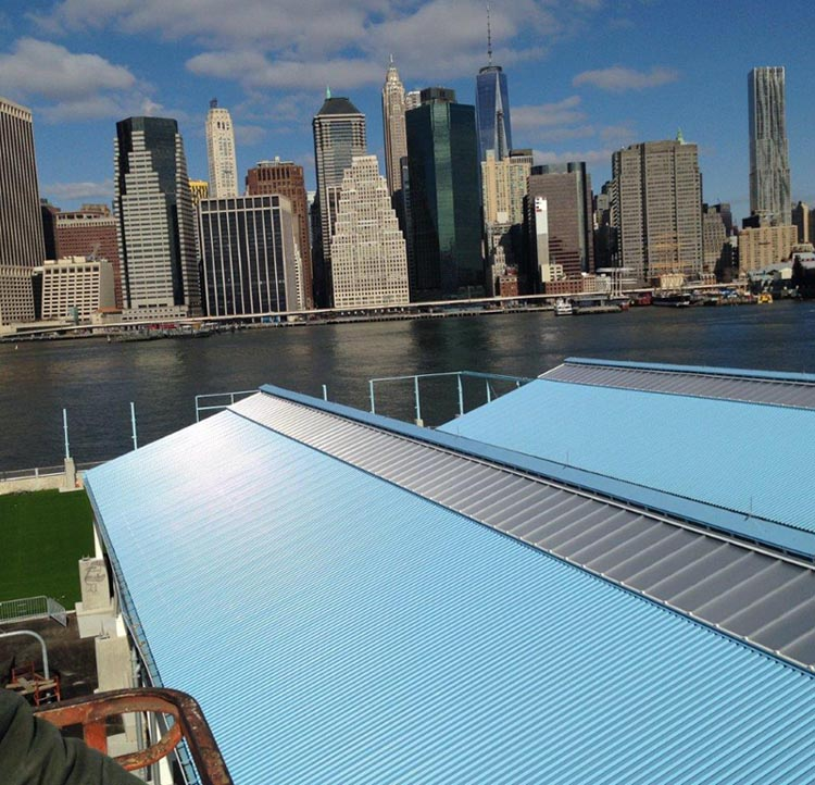 polycarbonate sheets for recreation - EXTECH's SKYSHADE 3100 for Brooklyn Bridge Park in New York