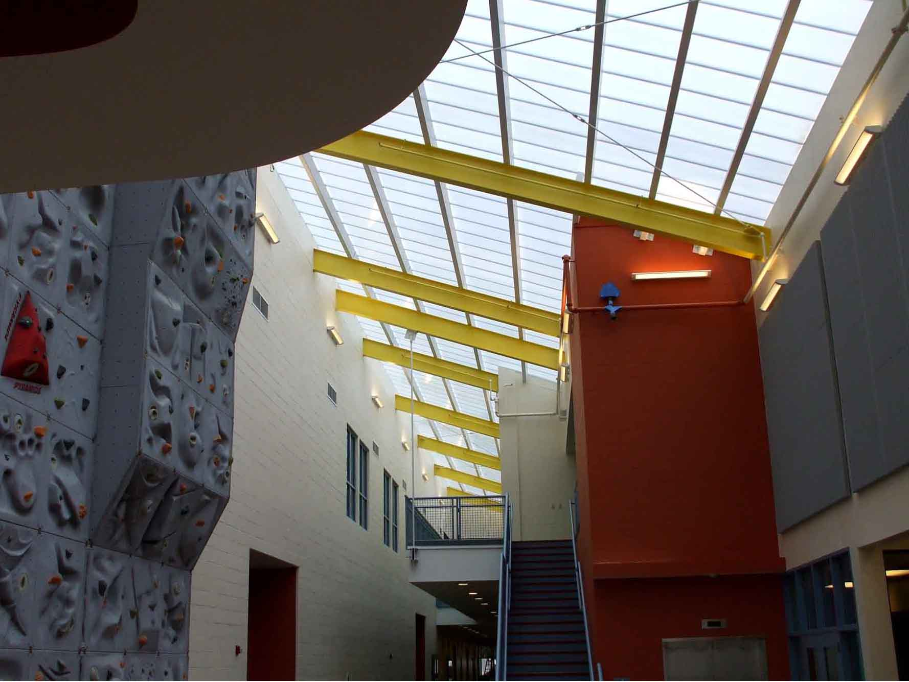 polycarbonate skylight for recreation - EXTECH's SKYGARD for Hanscom AFB