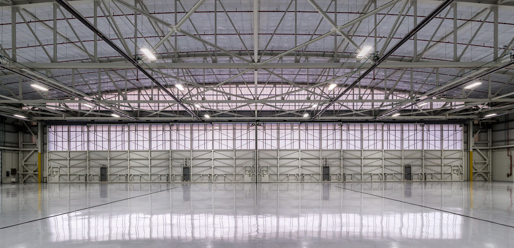 daylighting for aviation - EXTECH's LIGHTWALL 3440 & SKYGARD 3300 at Dupage Airport in Chicago, IL