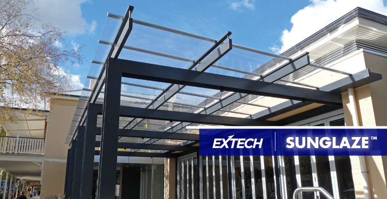 EXTECH Introduces SUNGLAZE<sup>™</sup> To Our Canopy Solutions
