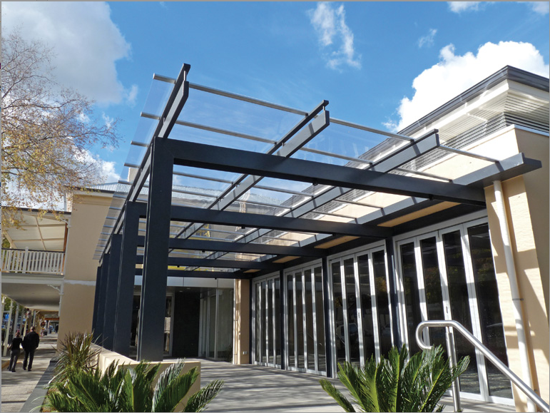 Commercial Canopies -  EXTECH's SKYSHADE 3100 at Copper Canyon