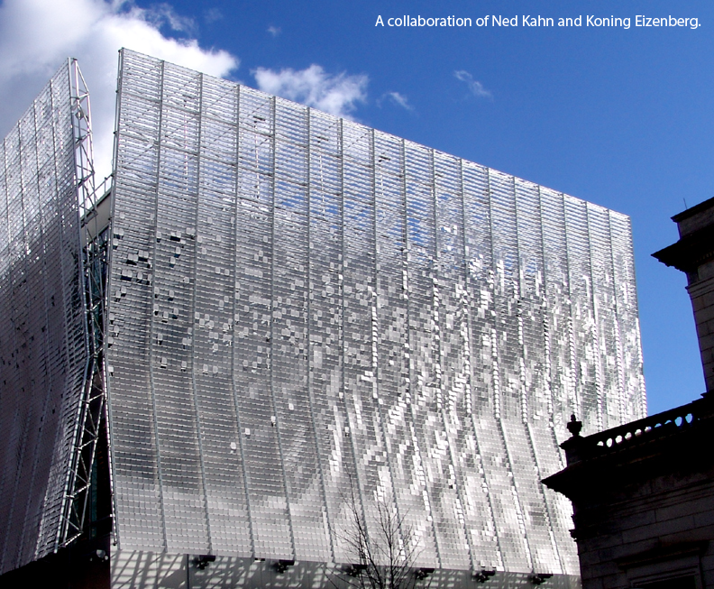 Kinetic Wall Dynamic Façade - EXTECH's KINETICWALL at Pittsburgh's Children's Museum
